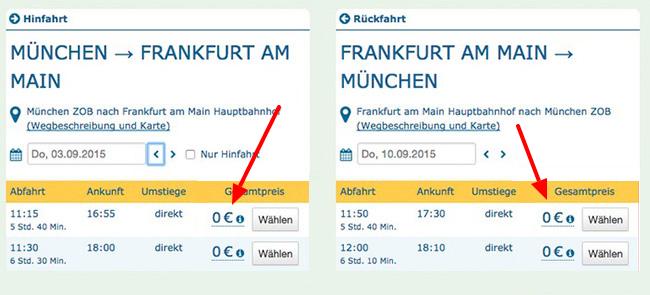 Kostenlos mit DeinBus durch Deutschland fahren   über 10.000 Sitzplätze verfügbar