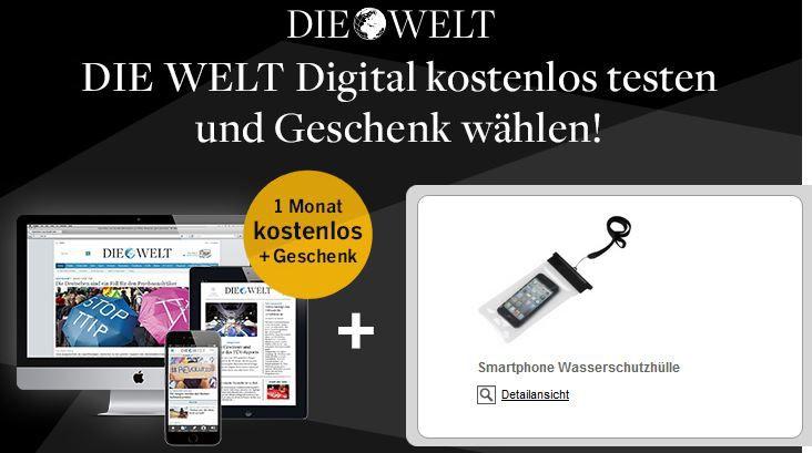 1 Monat Welt Digital gratis + kostenloses Geschenk