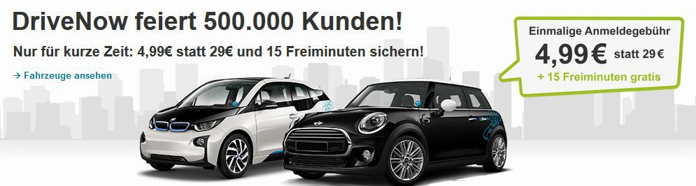 Drive Now Angebot