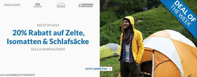 20% Rabatt auf diverse Campingartikel bei Engelhorn + 5€ Gutschein ab 80€