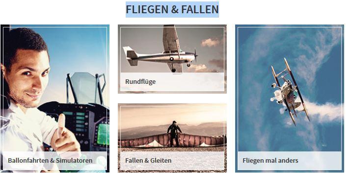 mydays   10€ Rabatt auf Erlebnisgutscheine in der Rubrik Fliegen & Fallen ohne MBW