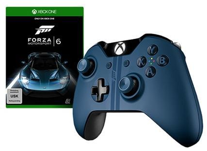 Forza Motorsport 6 Bundle mit neuem Xbox One Controller in der Forza Edition für 89€