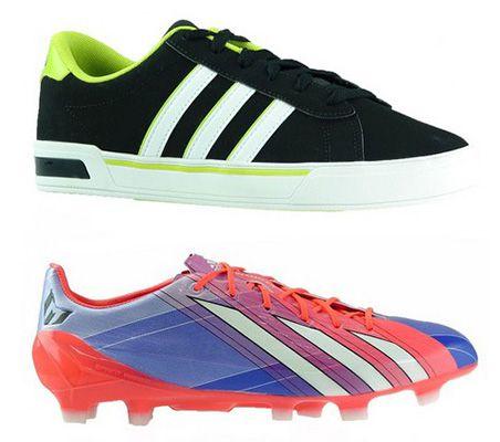 Fußballschuhe und Sneaker adidas F50 adizero TRX FG Messi für 27,99€ oder adidas SE Daily Vulc Sneaker für 27,99€