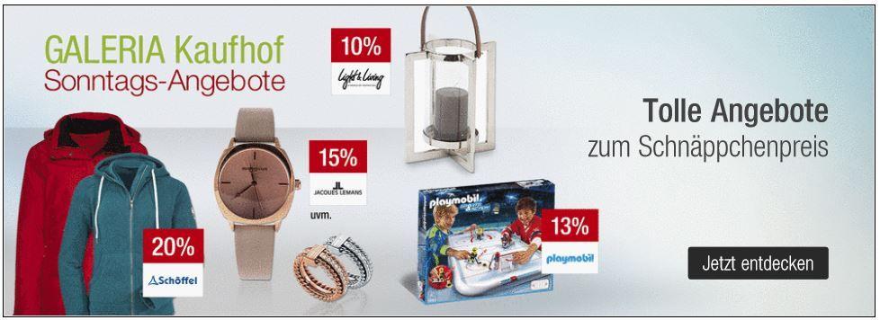 15% Rabatt auf alle Hasbro Nerf Artikel   10% Rabatt auf Villeroy & Boch   bei den Galeria Kaufhof Sonntagsangeboten + Gutscheine