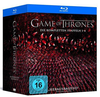 Game of Thrones Blu ray Game of Thrones Staffel 1 4 auf Blu ray (Digipack + Bonusdisc + Fotobuch) für 79,97€