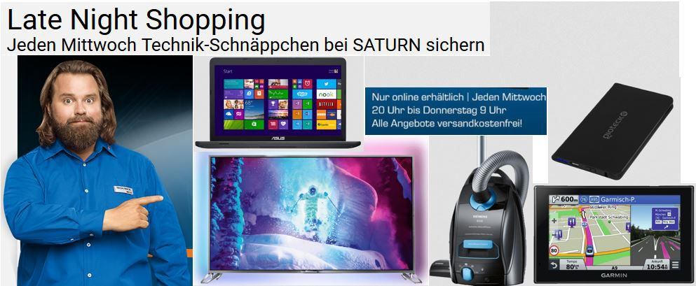 GIOTECK BP3 Mobile Battery Power Pack für 5€ oder Asus 17 Notebook mit i7 ab 694€ im Saturn Late Night Shopping