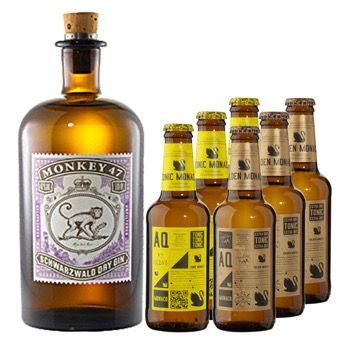 Gourmondo 10% Gourmondo Gutschein mit 60€ MBW   z.B. 2x Monkey 47 Aqua Monaco Tonic Set für 59,22€