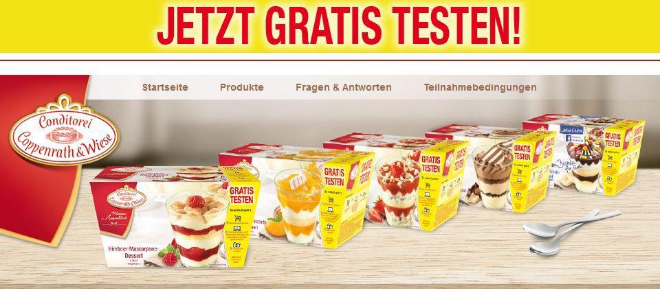 Jetzt gratis testen! Große Coppenrath & Wiese Dessert Probieraktion im Handel