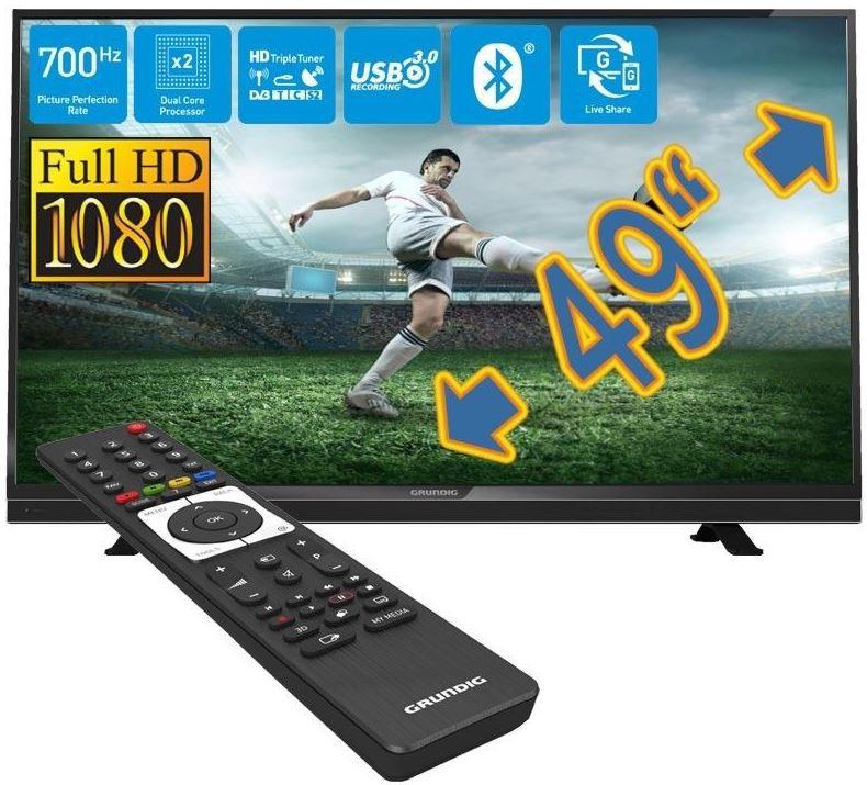 Grundig 49 VLE 8510   49 Smart TV mit triple Tuner, USB recording und Blutooth für 446,25€