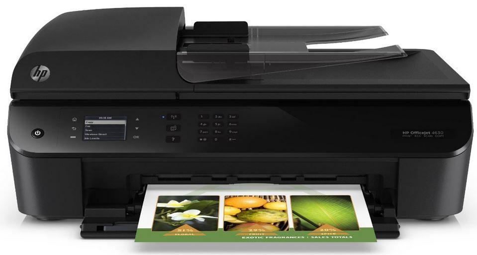 HP OfficeJet 4630 HP OfficeJet 4630 Multifunktionsgerät (Drucker, Scanner, Kopier, Fax) für 63,80€