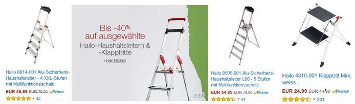 Hailo 8814 001 Alu Sicherheits Haushaltsleiter für nur 49,99€ bei der 40% Amazon Hailo Rabatt Aktion