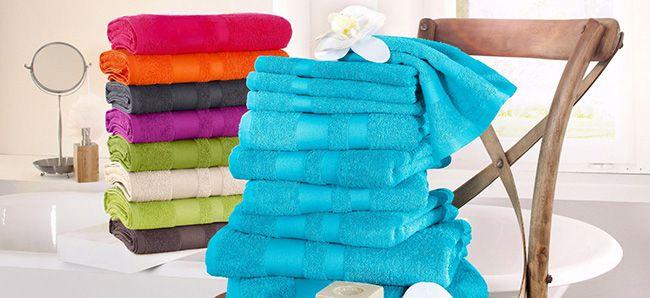 10 teiliges Handtuch Set Vanessa mit abgesetzter Bordüre für 19,99€
