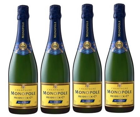 Schampus! 3 Flaschen Heidsieck & Co. Monopole Blue Top für 52,92€