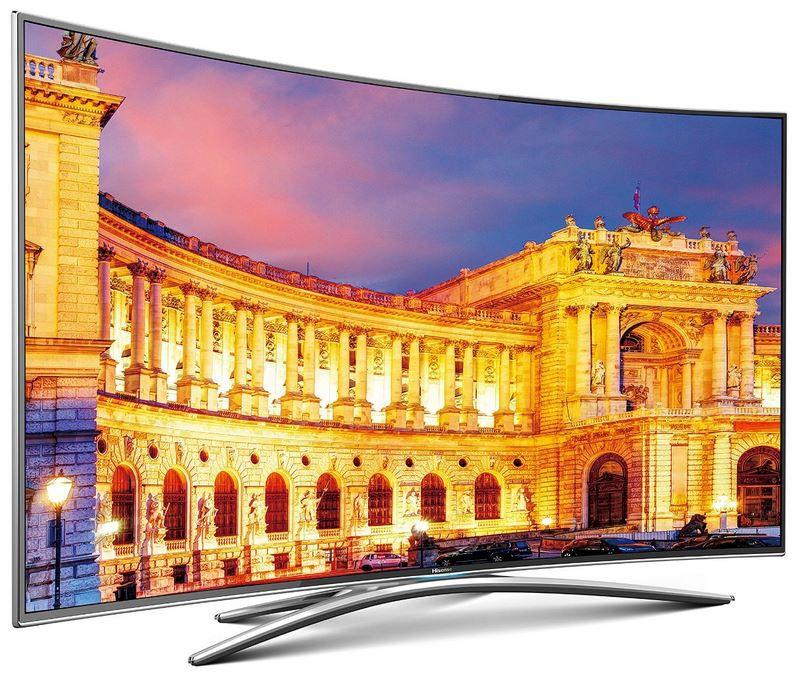 Hisense UB55EC870   55 Zoll 3D Curved Smart TV mit Ultra HD für 888€