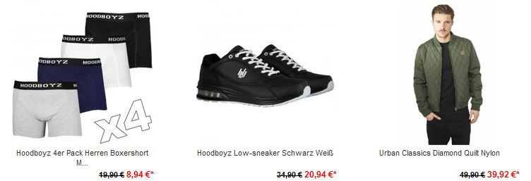 Hoodboyz Crazy Sale mit bis zu 85% auf alles und alle Marken! + 5€ Gutscheincode