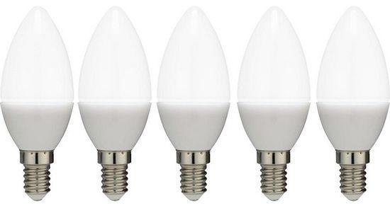 5er Set LED Leuchtmittel für 11€   Kerzenform, E14, 3W