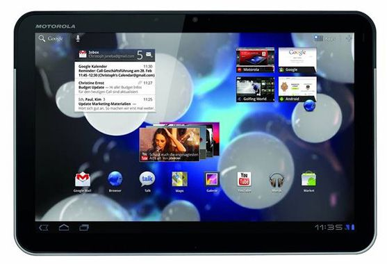 Motorola Xoom Tablet Motorola Xoom Tablet für 81,90€   B Ware, WLAN, 3G, 32GB, Android 3.0