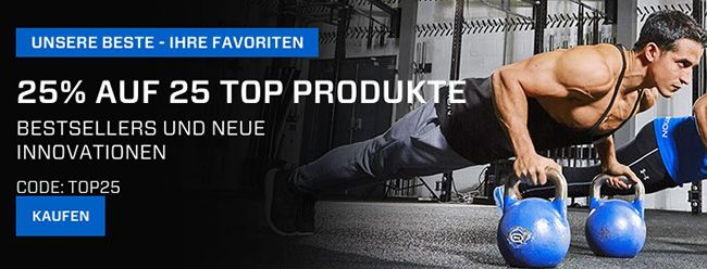 25% Rabatt auf 25 Top Produkte bei Myprotein