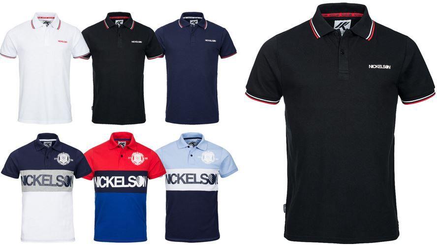 NICKELSON Herren Polo Shirt NICKELSON Herren Polo Shirts für je 17,99€