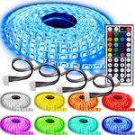 NINETEC Flash30 – 5m RGB LED Strip im Profi-Set (wasserdicht IP65 + 4 Verbinder) für 24,99€