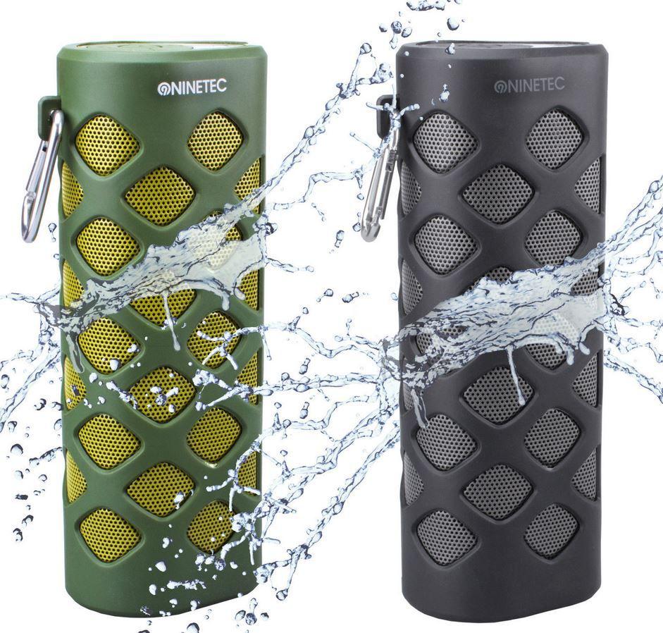NINETEC Oxygen 2in1 NINETEC Oxygen   2 in1 Outdoor Bluetooth NFC Lautsprecher mit PowerBank für 39,99€