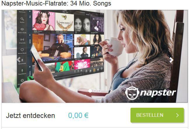 Napster kostenlos Kostenlos: Napster Music Flatrate mit 34 Mio. Songs für 1 Monat gratis!