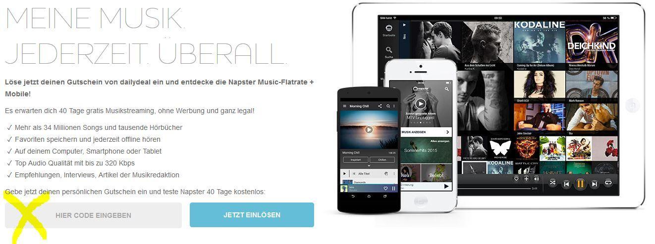 Kostenlos: Napster Music Flatrate mit 34 Mio. Songs für 1 Monat gratis!