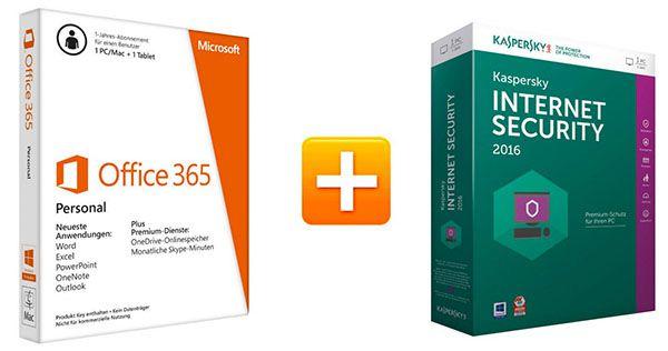 Microsoft Office 365 Personal + Kaspersky Internet Security 2016 für 24,90€ (statt 48€)
