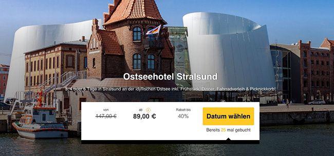 3 6 Tage Stralsund im Motel mit Frühstück ab 89€ p.P.