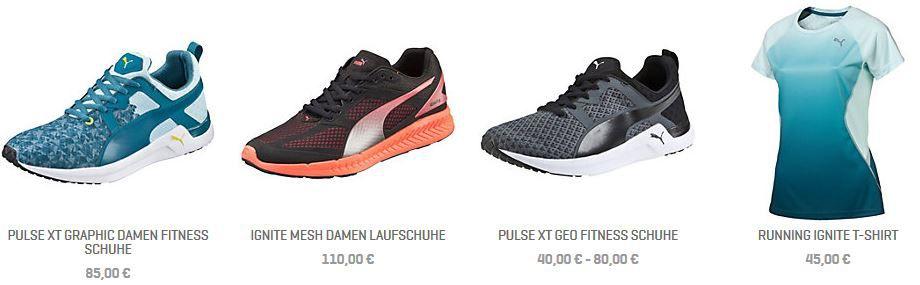PUMA Rabatt Aktion Puma Online Shop mit 40% Rabatt auf reguläre Ware + VSK frei