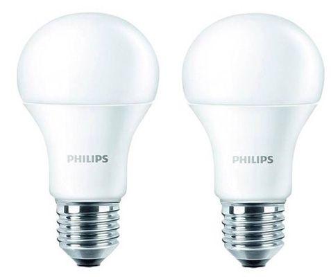 Philips LED Leuchten Philips 2 x LED Leuchten E27 9W warmweiß für 9,95€ oder 4 Stück für 16,90€