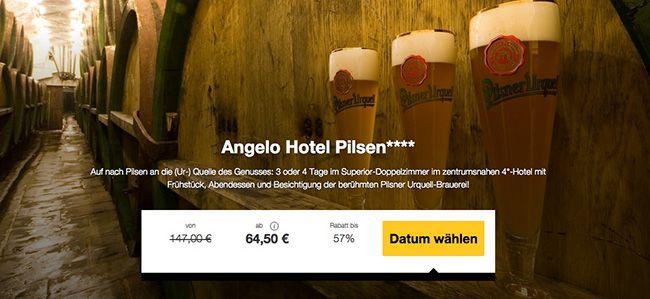 Pilsen Brauerei 3 4 Tage Tschechien mit Besichtigung der Pilsen Brauerei + 4 Sterne Hotel ab 64,50€ p.P.