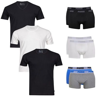 Puma Herren Shirts oder Boxershorts 2er Pack Puma Herren Shirts oder Boxershorts für je 14,95€