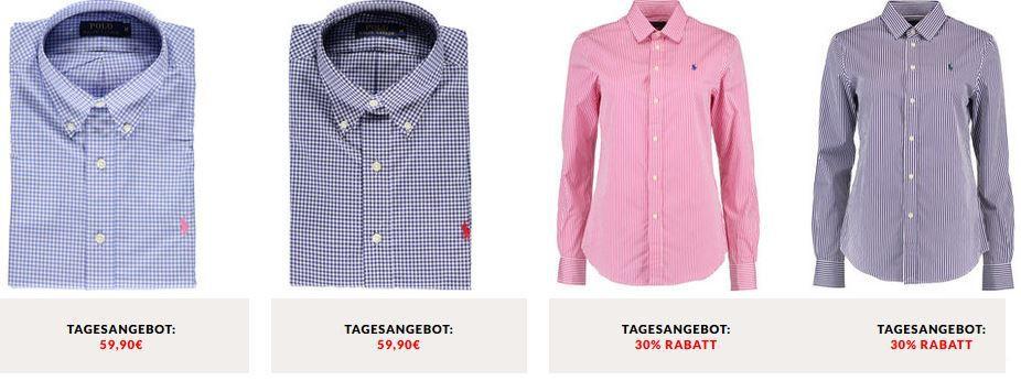 Ralph Lauren   Herren Hemden und Damen Blusen ab 59,90€
