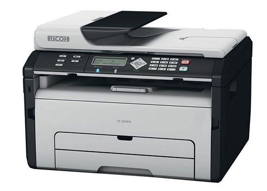 Ricoh SP204SFNW Ricoh SP204SFNW Monolaser Multifunktionsdrucker mit WLAN für 89,90€