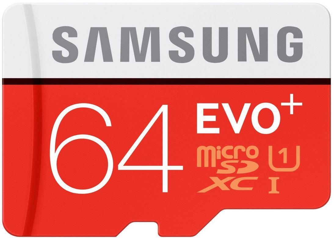 Samsung EVO Plus   MicroSDXC Speicherkarte 64GB UHS I Grade 1 Class 10 für 14,99€