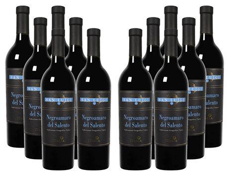 12 Flaschen San Luigi Negroamaro del Salento Rotwein für 47,99€