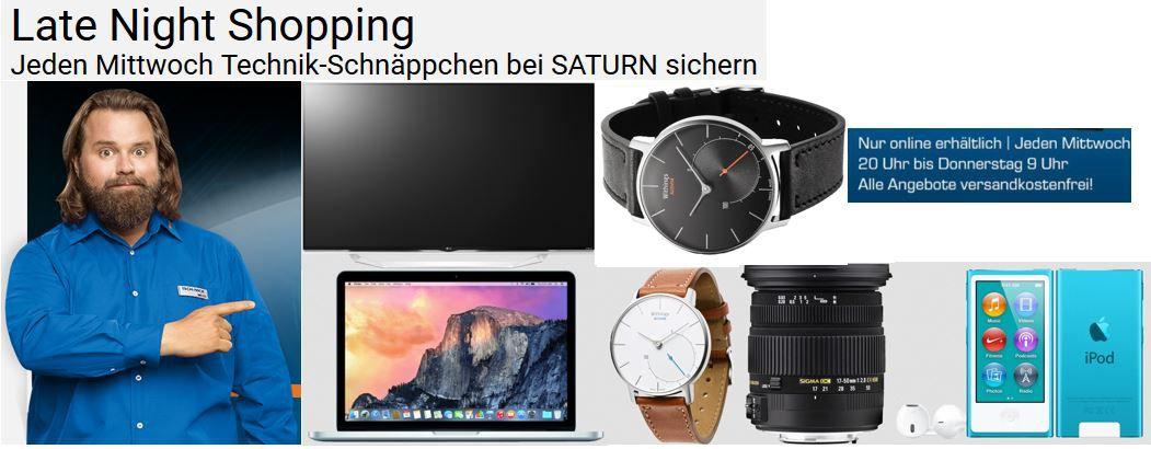 Saturn aktuelle angebote APPLE iPod Nano   MP4 Player mit 16 GB ab 120€ im Saturn Late Night Shopping