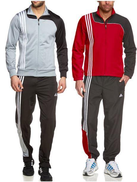 adidas Sereno 11   Kult Trainingsanzüge in rot oder grau für je nur 28,99€