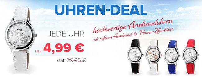 Verschiedene Damen Uhren für 9,94€ + 5€ Gutschein ab 10€ MBW