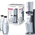 Sodastream Crystal Megapack mit 60L Zylinder + 3 Karaffen + 2 Sirup für 94€ (statt 105€)