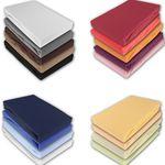 Jersey Spannbettlaken in verschiedenen Farben und Größen für je 9,95€