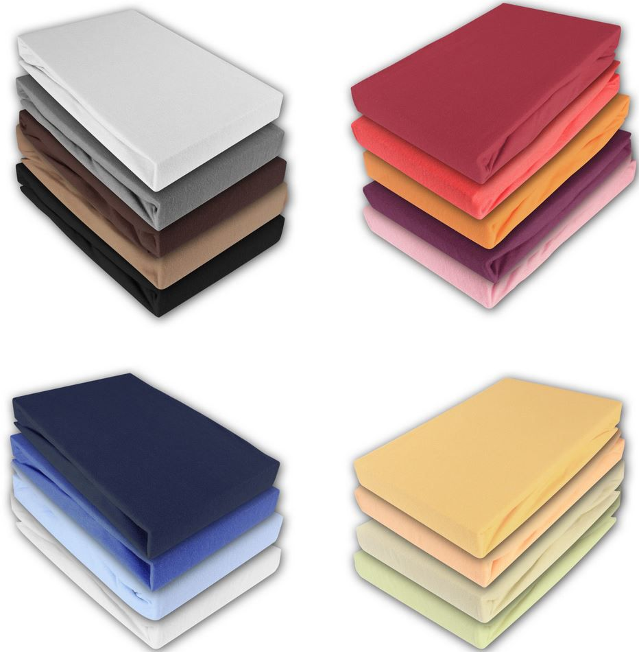 Spannbettlaken Jersey Spannbettlaken in verschiedenen Farben und Größen für je 9,95€