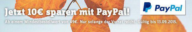 10€ SportScheck Gutschein über Paypal mit nur 49€ MBW   Update