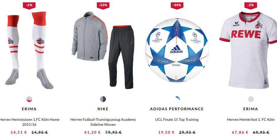 Engelhorn Sport mit 70% Sale + 12,5% Extra Rabatt auf reduzierte Fußball Artikel