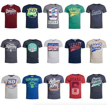 Superdry Herren Shirts Superdry Herren Shirts als B Ware für 9,05€