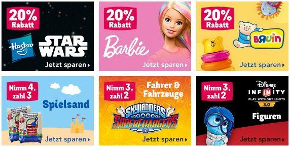 ToysRUs Wochenendaktionen   z.B. 20% auf Star Wars & Barbie