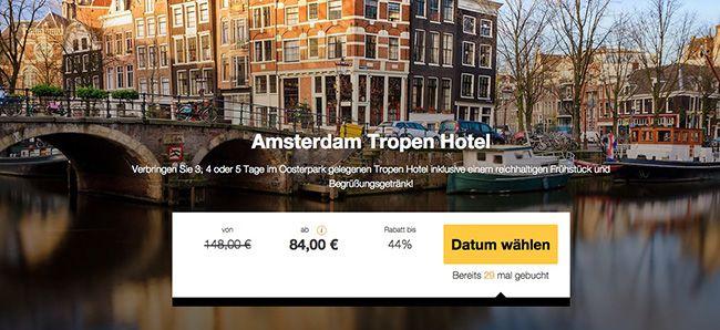 3 5 Tage Amsterdam im 3 Sterne Hotel mit Frühstück ab 84€ p.P.