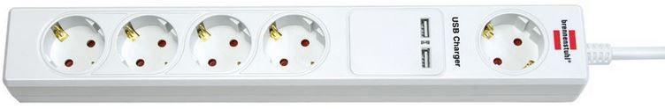 Brennenstuhl ULS 25 Eco Line Steckdosenleiste mit USB Ladestation 1,5m für 9,99€