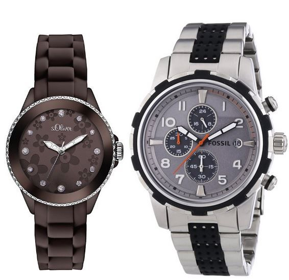Fossil Dean FS4888 Herren Chrograph für 99€ oder S.Oliver Flowers Damen Uhr für 29,99€
